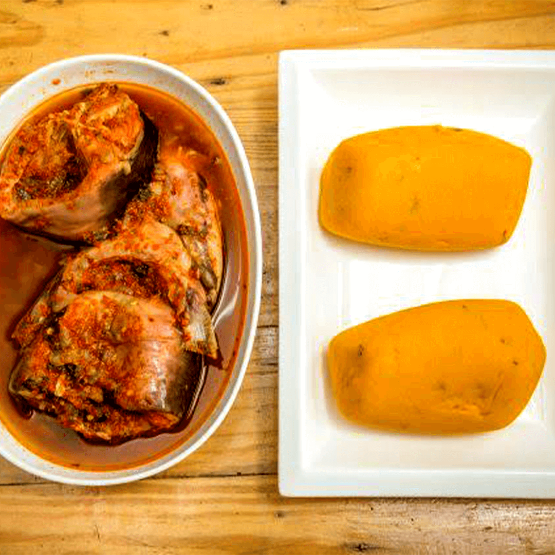 onunu and fish peppersoup originally from Rivers State Nigeria